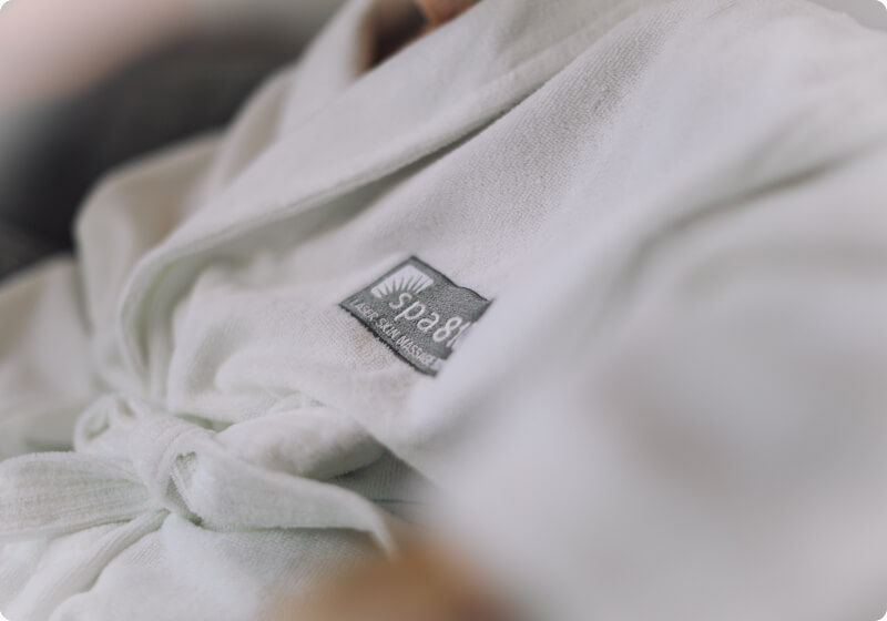 spa810 robe provided for treatments