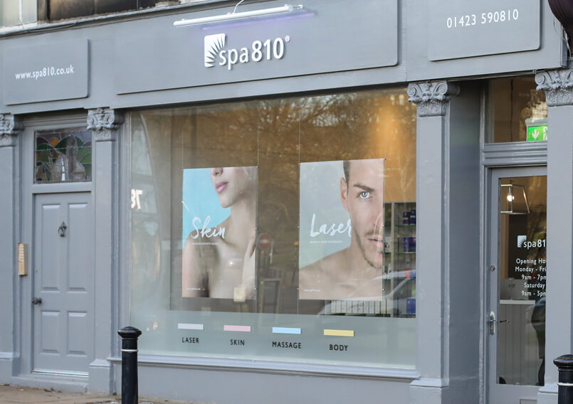 Store front of the spa810 spa in Harrogate