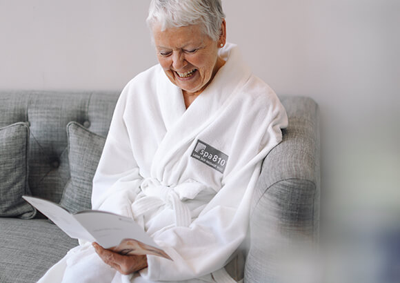customer reading treatment menu